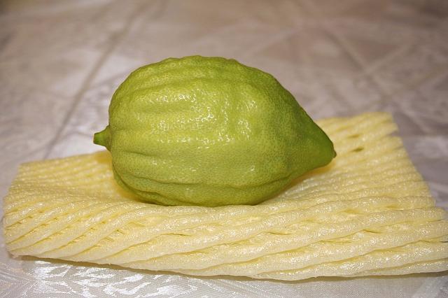limone con buccia grande